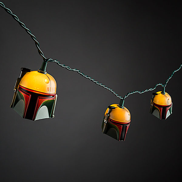 Star Wars Boba Fett Helmet String Lights