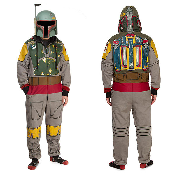 Star Wars Boba Fett Hooded Onesie Pajamas