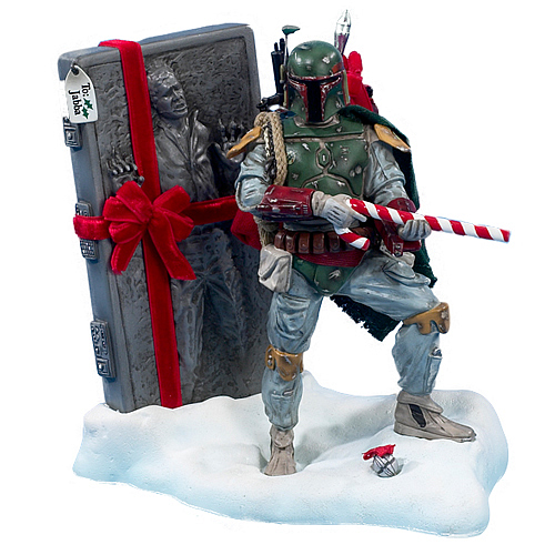 Star Wars Boba Fett with Carbonite Christmas Statue