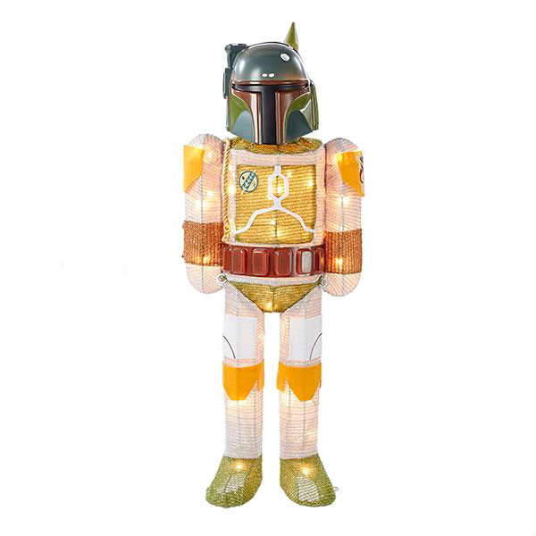 Star Wars Boba Fett with Scarf Light-Up Tinsel Display