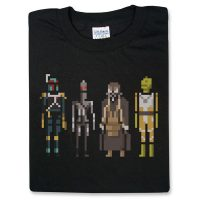 Star Wars Bounty Hunters Pixelated T-Shirt