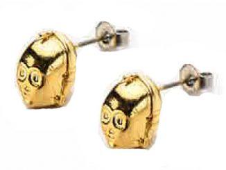 Star Wars C-3PO Gold Plated 3-D Stud Earrings