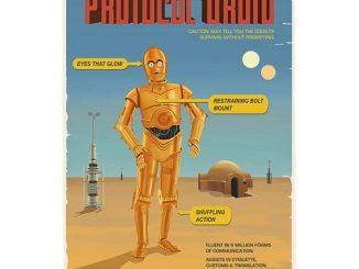 Star Wars C3PO Protocol Droid Retro Ad Poster Paper Giclee
