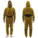 Star Wars C3PO Costume Hooded Union Suit