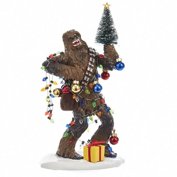 Star Wars Chewbacca 8 Inch Christmas Holiday Statue