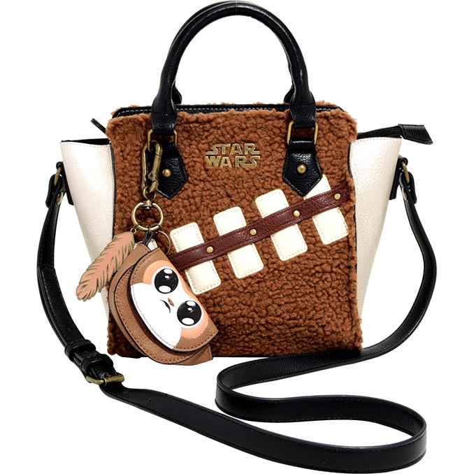 Star Wars Chewie & Porg Sherpa Handbag