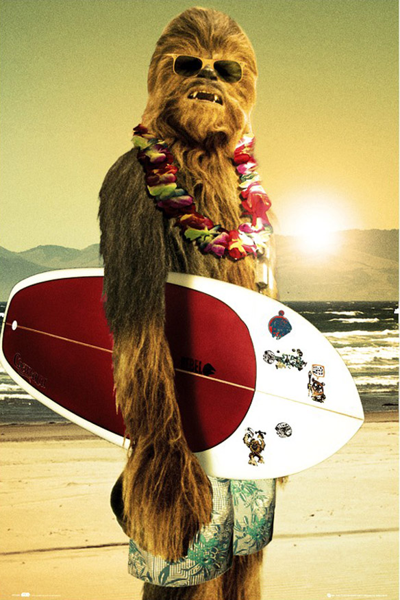 Star Wars Chewie Surf Art