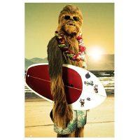Star Wars Chewie Surf Poster