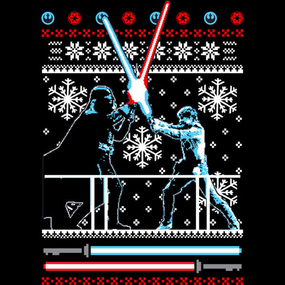 The Star Wars Christmas Duel T-Shirt is available for $26 at Design By ...: www.geekalerts.com/star-wars-christmas-duel-t-shirt