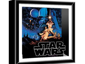 Star Wars Classic Art Wood Shadow Box