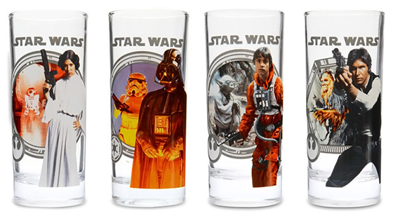 Star Wars Classic Drinking Glasses Set
