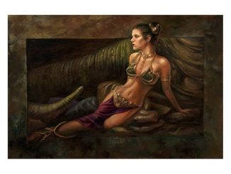Star Wars Classic Trilogy Leia Study by Lee Khose Gallery Wrapped Canvas Giclee Print