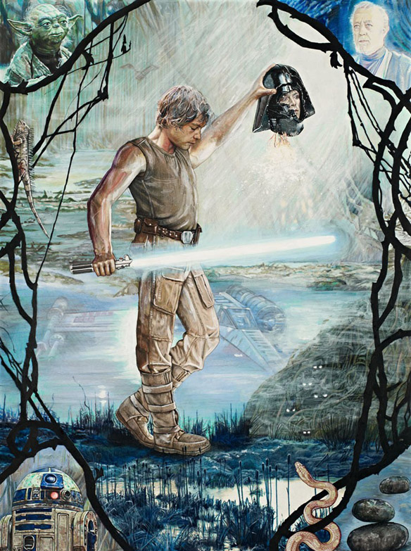 Star Wars Classic Trilogy Perseus Skywalker Art Print