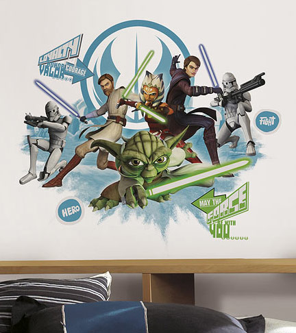 Star Wars Clone Wars Collage Decal