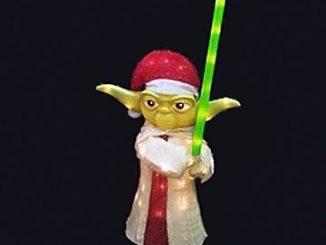 Star Wars Clone Wars Yoda 18-Inch Light-Up Display