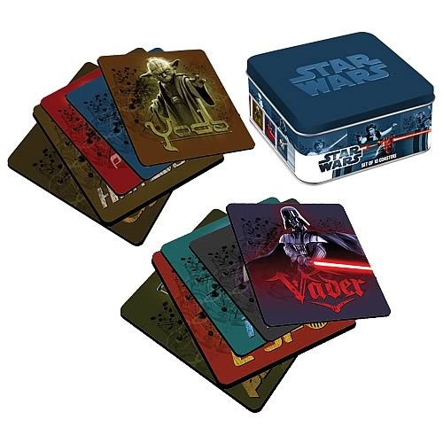 Star Wars Coasters with Tin Box
