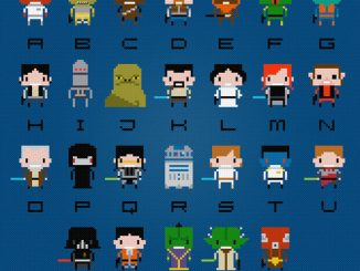 Star Wars Cross Stitch Alphabet Pattern