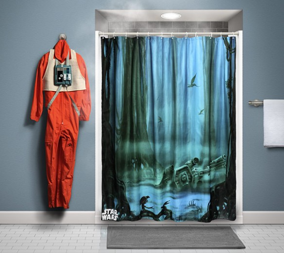 star wars dagobah shower curtain. Black Bedroom Furniture Sets. Home Design Ideas
