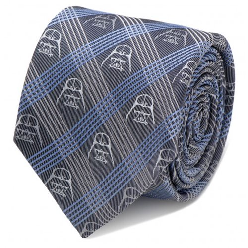 Star Wars Darth Vader Blue Plaid Italian Silk Tie