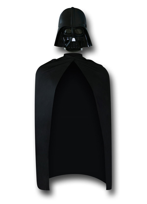 Star Wars Darth Vader Mask and Cape Set
