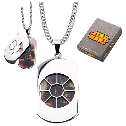 Star Wars Darth Vader Silhouette Dog Tag Necklace
