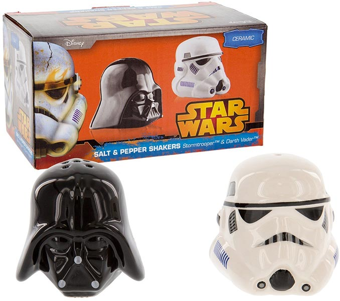 Star Wars Darth Vader Stormtrooper Salt & Pepper Shakers