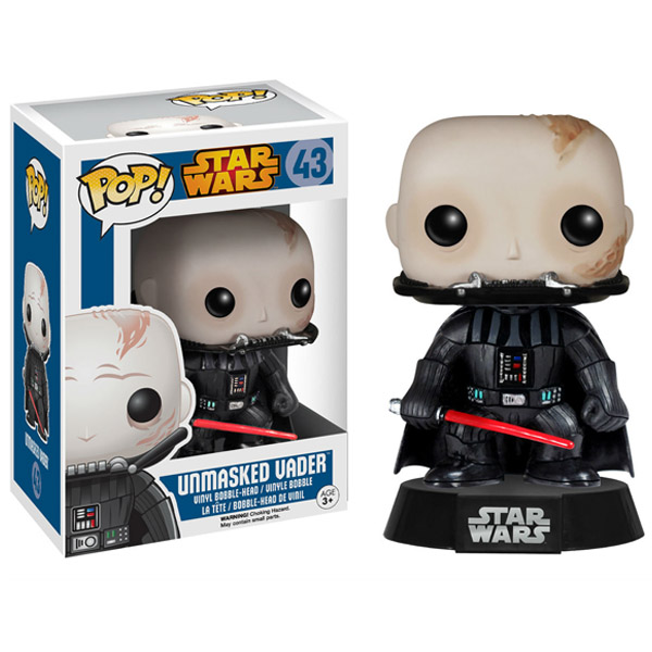 Star Wars Darth Vader Unmasked Bobble Head