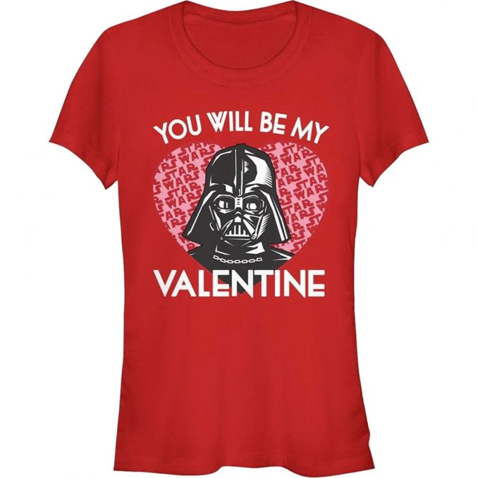 Star Wars Darth Vader Valentine's Day T-Shirt