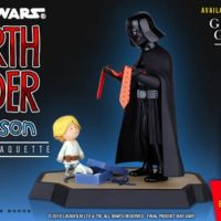 Star Wars Darth Vader and Son Maquette with Book