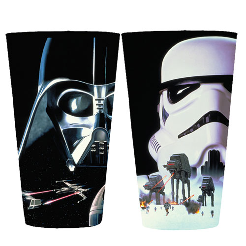 Star Wars Darth Vader and Stormtrooper 16 oz. Pint Glass 2-Pack