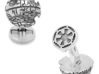 Star Wars Death Star 3D Sterling Silver Cufflinks
