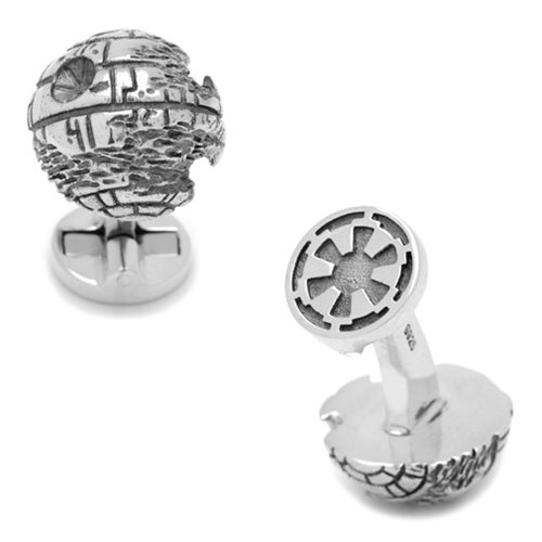 Star Wars Death Star 3D Sterling Silver Cufflinks