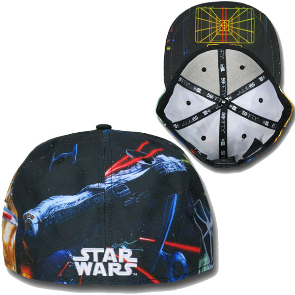 Star Wars Death Star Battle 59Fifty Cap Back and Brim