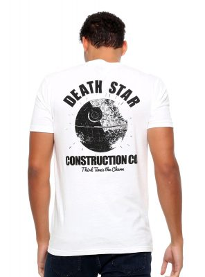 Star Wars Death Star Construction T-Shirt Back