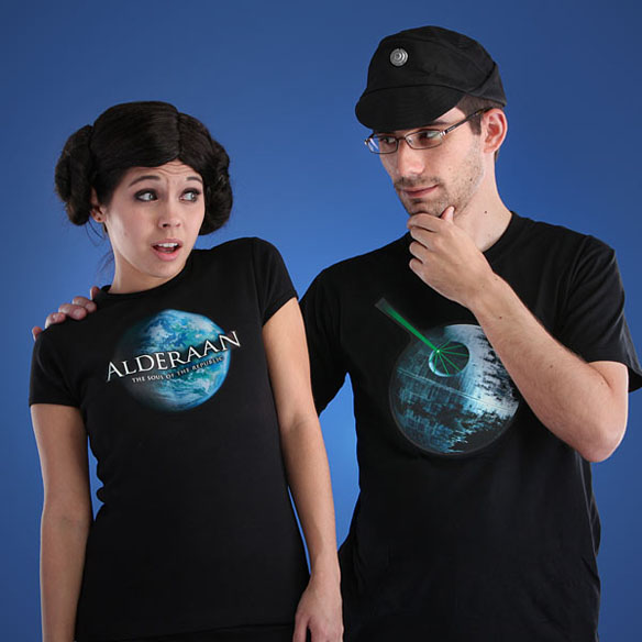 Star Wars Death Star Electronic LED Shirt