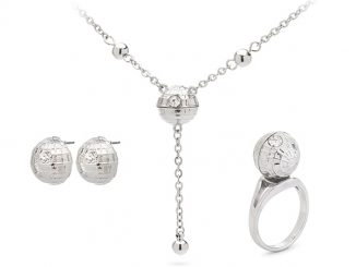 Star Wars Death Star Jewelry (Ring, Necklace, Earrings)