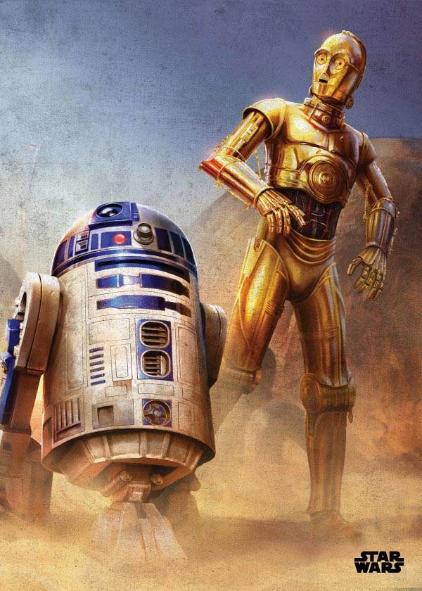 Star Wars Droid Metal Print