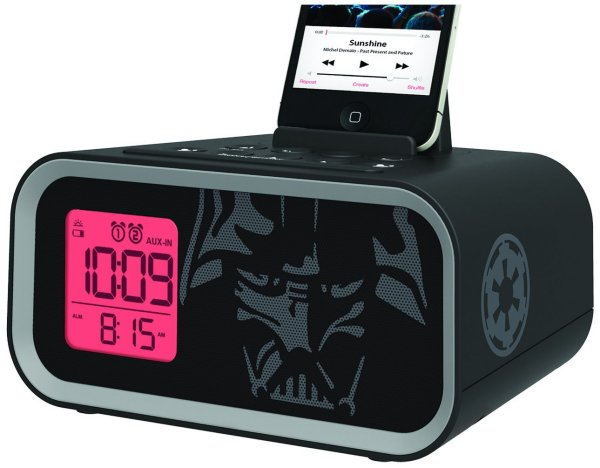 Star Wars Dual Alarm Clock Speaker System