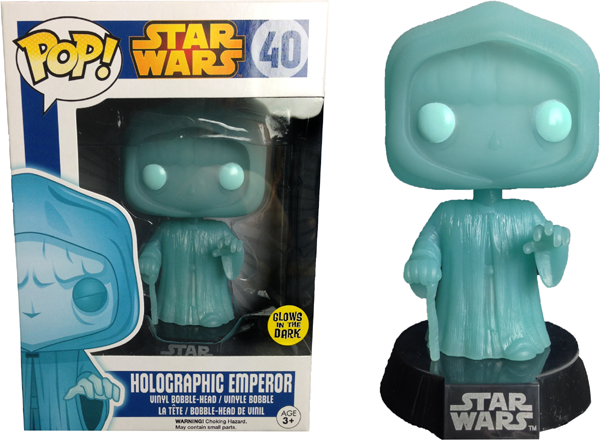 Star Wars Emperor Palpatine Glow-in-the-Dark Pop Vinyl Bobble Head Figure
