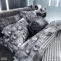 Star Wars Emperor's Throne Room Pillow on Bed