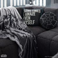 Star Wars Emperors Throne Room Pillow on Couch