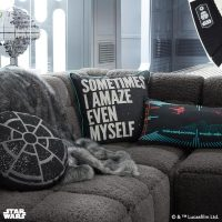 Star Wars Emperor's Throne Room Pillow on Sofa