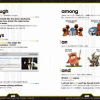 Star Wars English Japanese Dictionary for Padawan Learners Page
