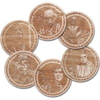 Star Wars Engraved Wood Coasters