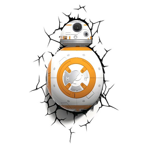 star wars episode vii the force awakens bb 8 droid 3d light