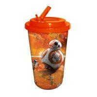 Star Wars Episode VII - The Force Awakens BB-8 Orange 16 oz. Flip Straw Travel Cup