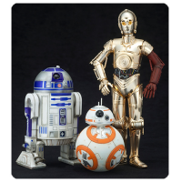 Star Wars Episode VII - The Force Awakens C-3PO R2-D2 and BB-8 Artfx 1 10 Scale Statue Set