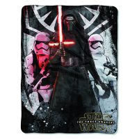 Star Wars Episode VII - The Force Awakens First Order Micro Raschel Throw Blanket