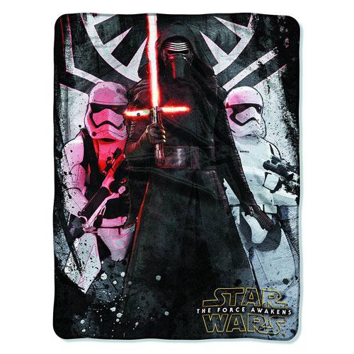 Star Wars Episode VII - The Force Awakens First Order Micro Raschel Throw Blanket