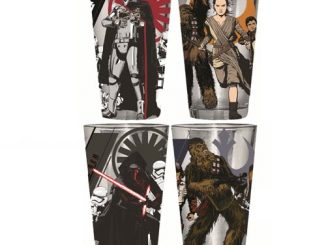 Star Wars Episode VII - The Force Awakens Heroes And Villains 16 oz. Clear Pint Glass 4-Pack